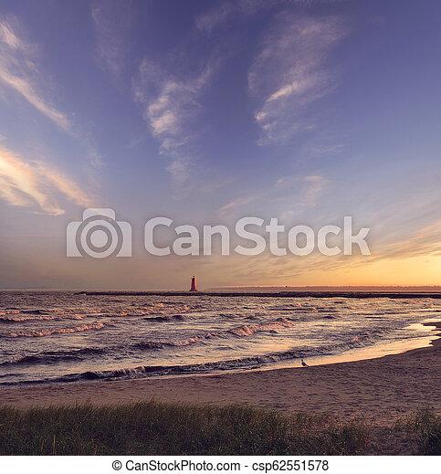 lake at sunset - csp62551578