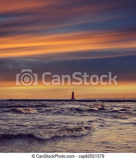 lake at sunset - csp62551579