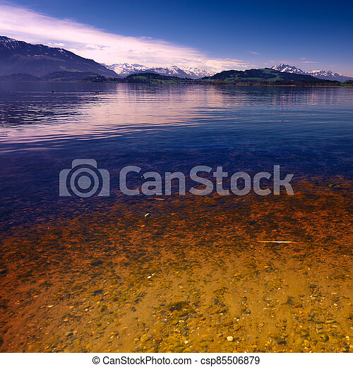 Lake at Sunset - csp85506879