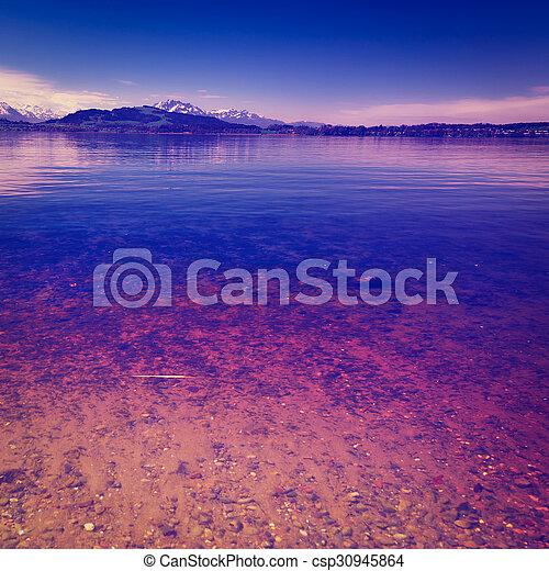 Lake at Sunset - csp30945864