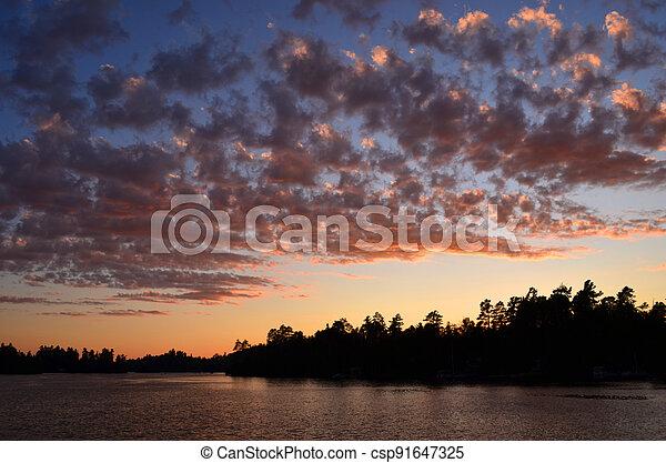 Lake at Twilight - csp91647325