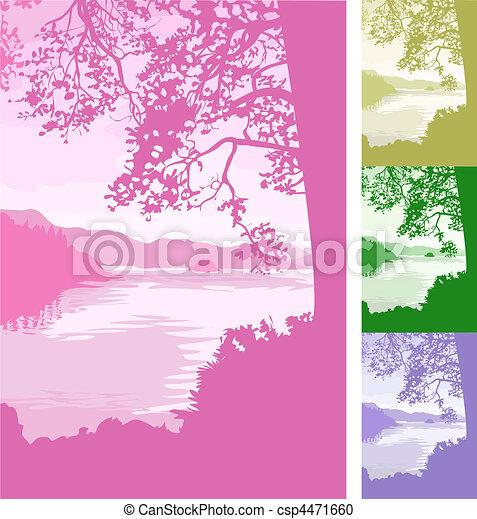 lake background Illustration - csp4471660
