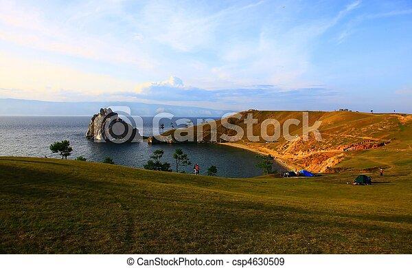 Lake Baikal. Olkhon island.  - csp4630509