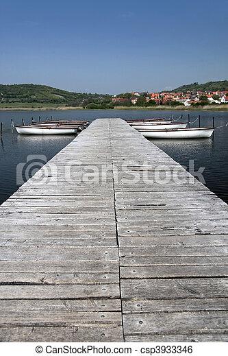 Lake Balaton in Tihany - csp3933346