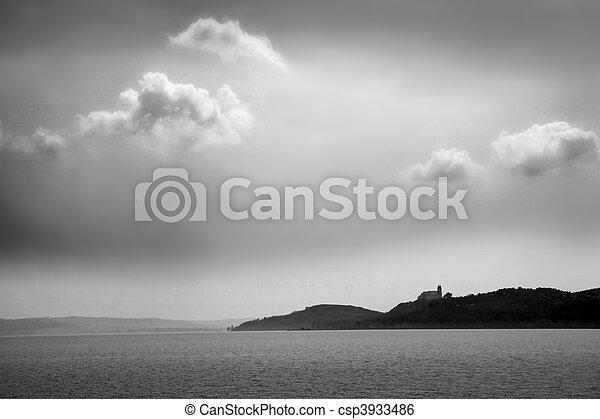 Lake Balaton in Tihany - csp3933486