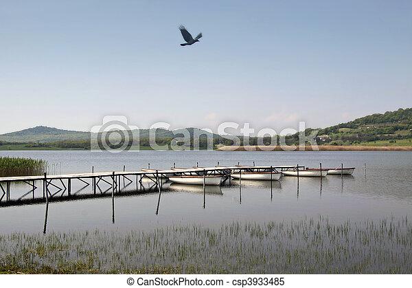 Lake Balaton in Tihany - csp3933485
