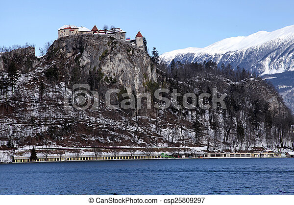 Lake Bled With The Castle Bled Slovenia