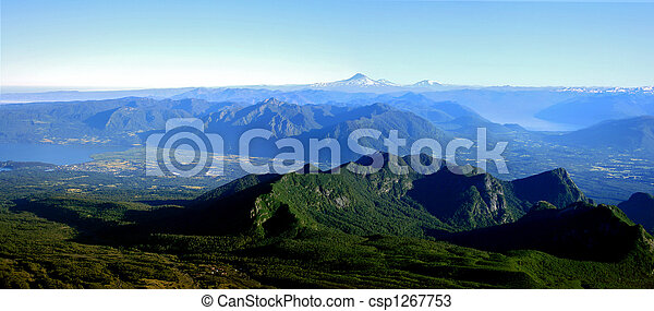 Lake District in Chile - csp1267753