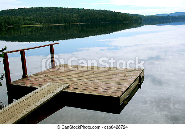 Lake dock - csp0428724