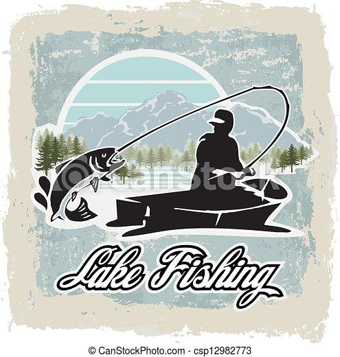 lake fishing - csp12982773