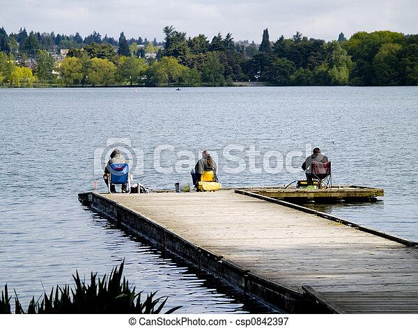 Lake Fishing - csp0842397