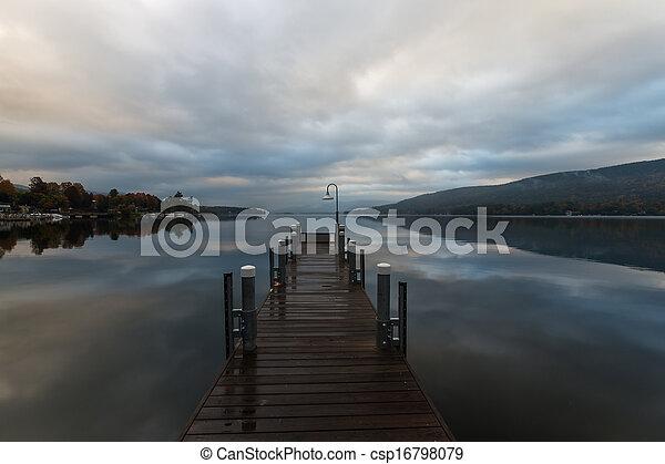 Lake George at sunrise - csp16798079