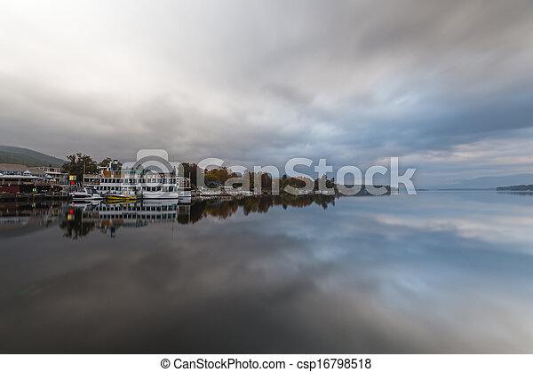 Lake George at sunrise - csp16798518