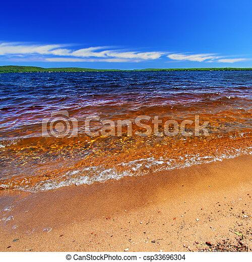 Lake Gogebic Summer Landscape - csp33696304