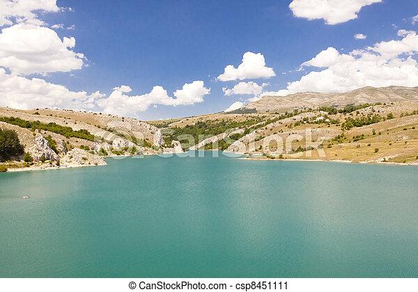 Lake in Bosnia and Herzegovina. - csp8451111