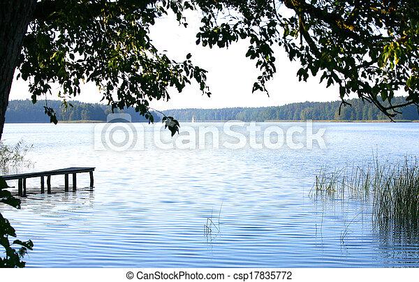 Lake in countryside - csp17835772