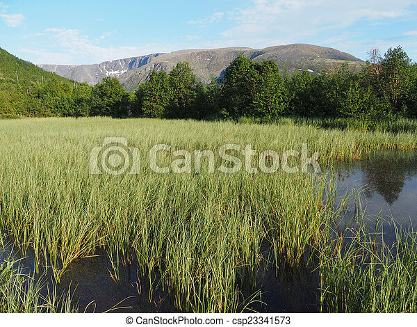 Lake in the mountains - csp23341573