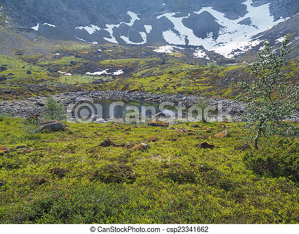 Lake in the mountains - csp23341662