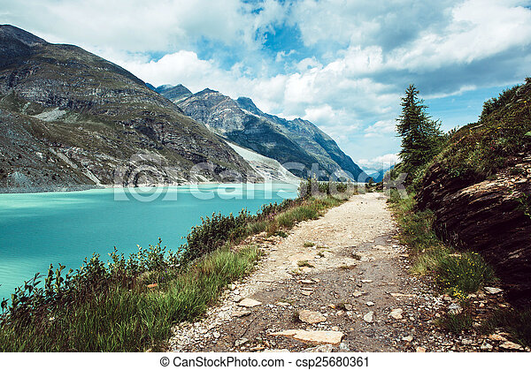 Lake in the mountains - csp25680361