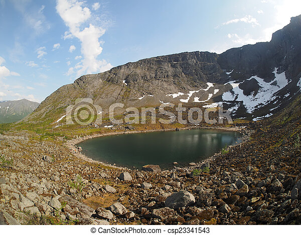 Lake in the mountains - csp23341543