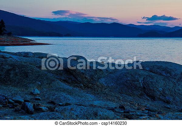 Lake Jocassee sunrise - csp14160230