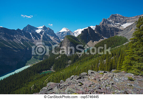 Lake Louise area in Canada - csp5746445