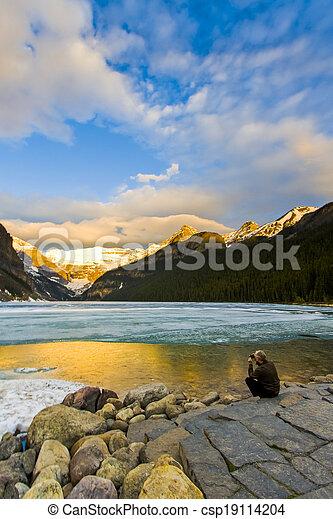 Lake Louise at Sunrise - csp19114204