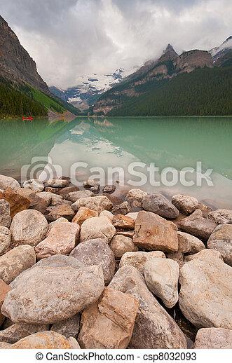 Lake Louise in the morning - csp8032093
