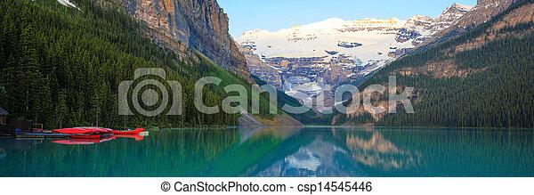Lake Louise, Red Canoe, Banff National Park - csp14545446