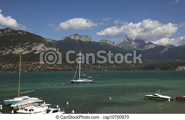 lake of annecy, france - csp10700970