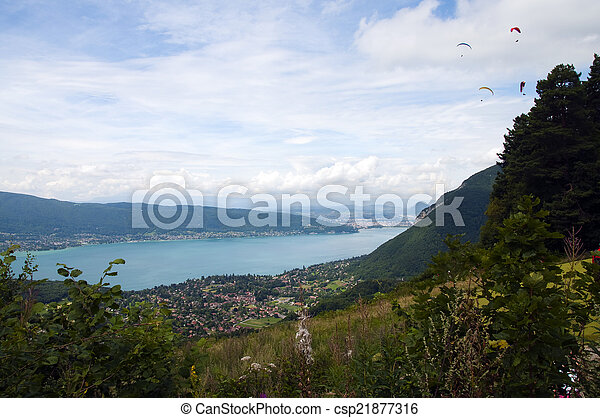Lake of Annecy in France - csp21877316