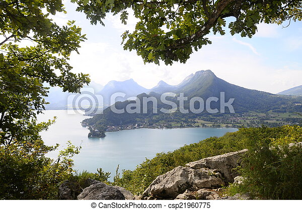 Lake of Annecy in France - csp21960775