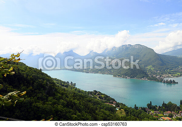 Lake of Annecy in France - csp53160763