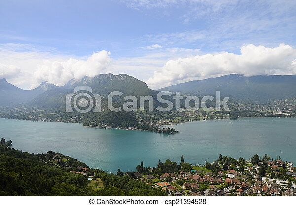 Lake of Annecy in France - csp21394528