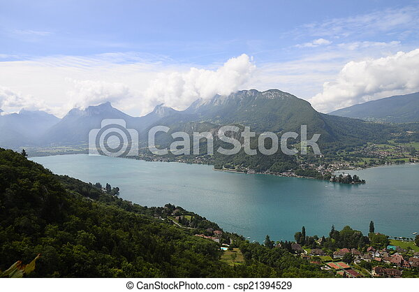 Lake of Annecy in France - csp21394529