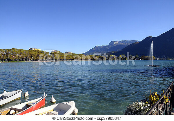Lake of Annecy in france - csp37985847