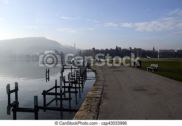 Lake of Annecy in france - csp43033996