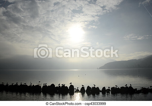 Lake of Annecy in france - csp43033999