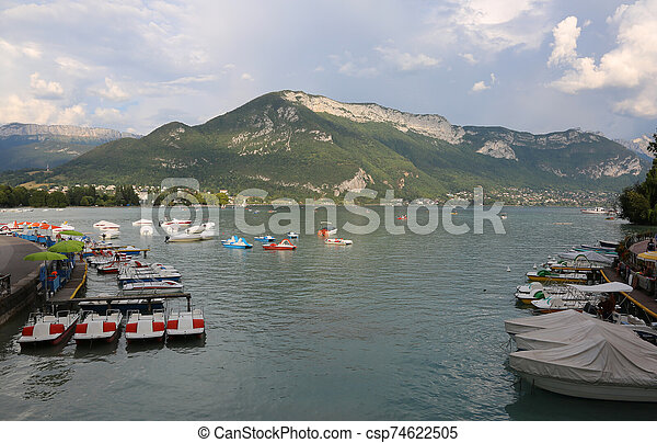 Lake of Annecy in France - csp74622505