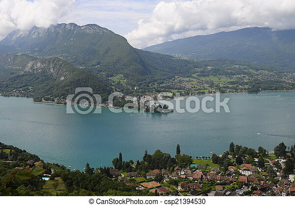 Lake of Annecy in France - csp21394530