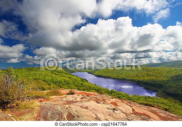 Lake of the Clouds Michigan - csp21647764