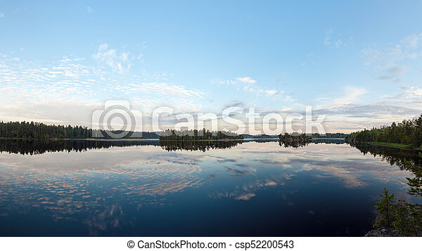 lake on a summer morning - csp52200543
