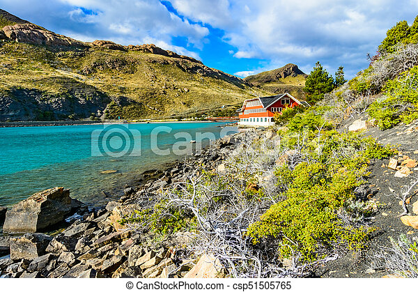 Lake Pehoe, Torres del Paine National Park, Patagonia, Chile - csp51505765