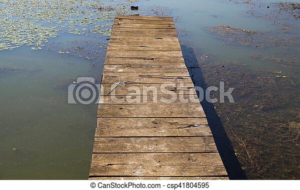 Lake pier 01 - csp41804595