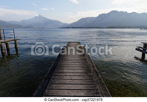 Lake pier - csp37221978