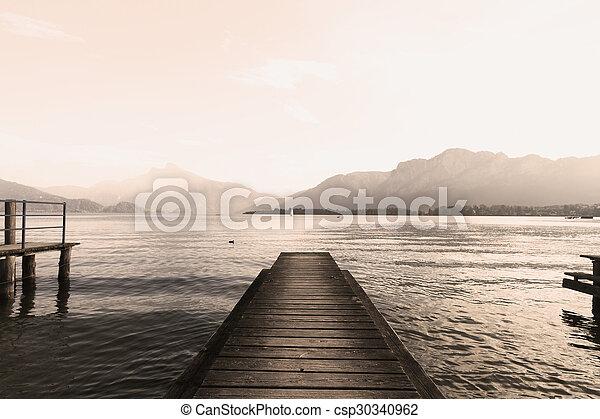 Lake pier - csp30340962