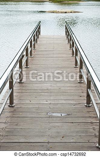 Lake pier. - csp14732692