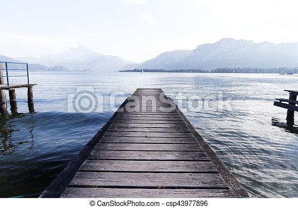 Lake pier - csp43977896