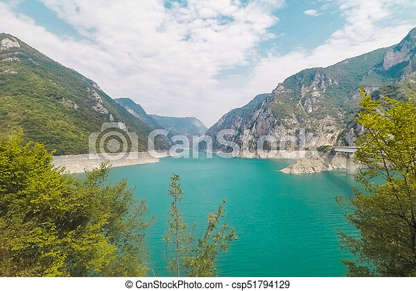 Lake Piva in the mountains - csp51794129