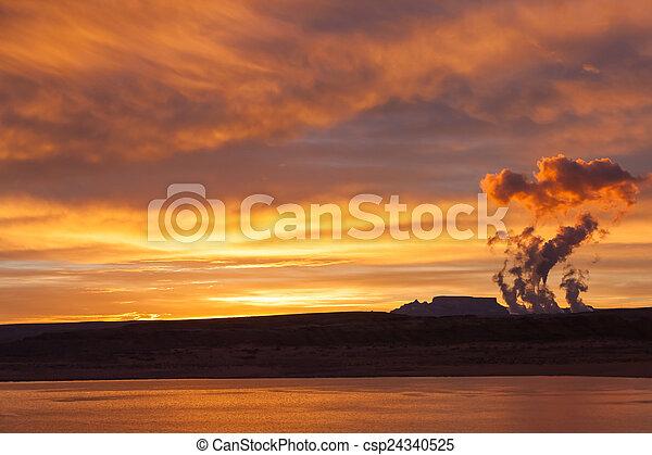 Lake Powell at sunrise - csp24340525